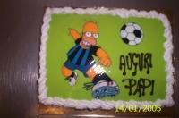 Festa del papà. Homer-calciatore