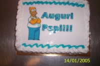 Festa del papà: Torta-Homer