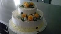 torta-matrimonio-rose-gialle